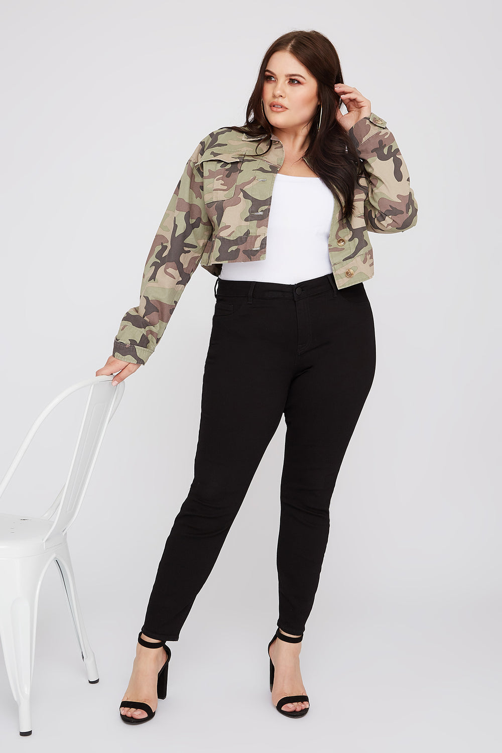 Refuge Plus Size Black High-Rise Jegging Black