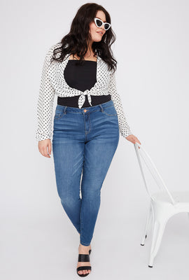 Refuge Plus Size High-Rise Medium Wash Jegging