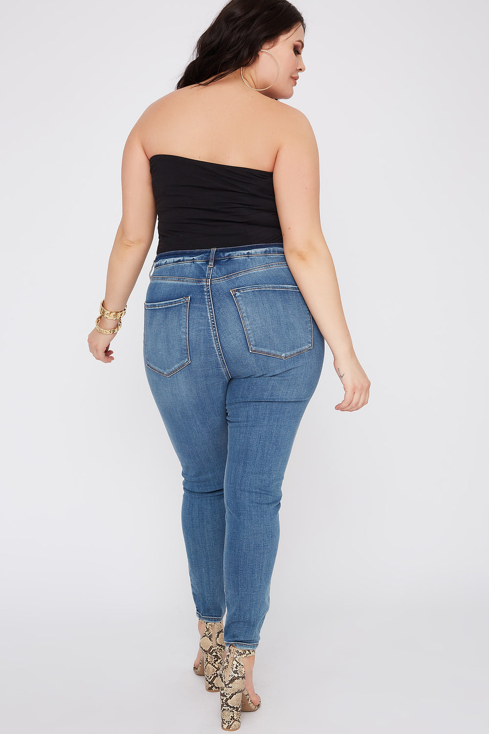 Refuge Plus Size High-Rise Medium Blue Jegging Medium Blue