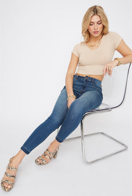 Refuge High-Rise Medium Wash Jegging