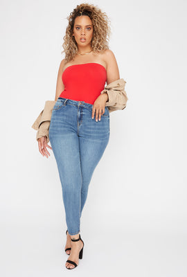 Refuge Plus Size High-Rise Medium Wash Jeggings