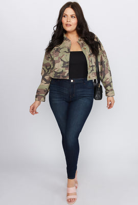 Refuge Plus Size High-Rise Dark Wash Jegging