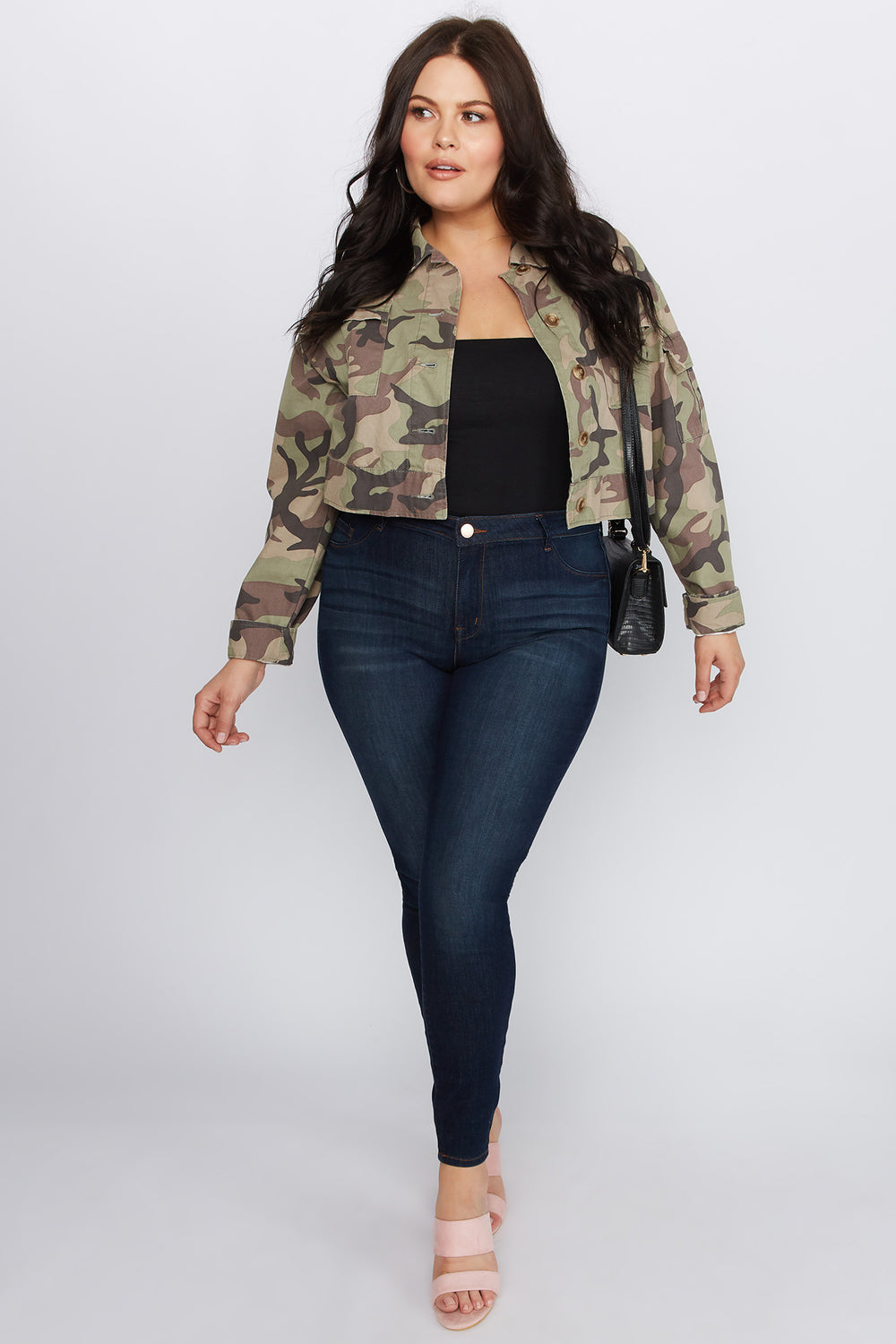 Refuge Plus Size High-Rise Dark Wash Jegging Dark Blue