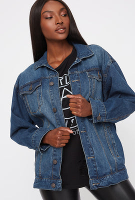 Refuge Oversized Boyfriend Denim Jacket