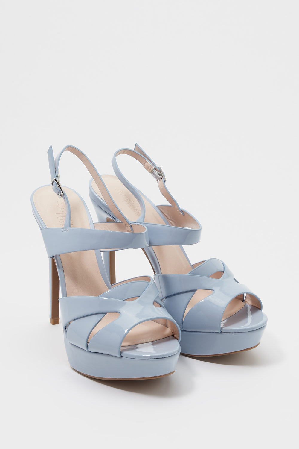 Shine Platform Stiletto Heel Sandal Light Blue