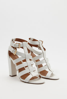 Band Block Heel Sandal