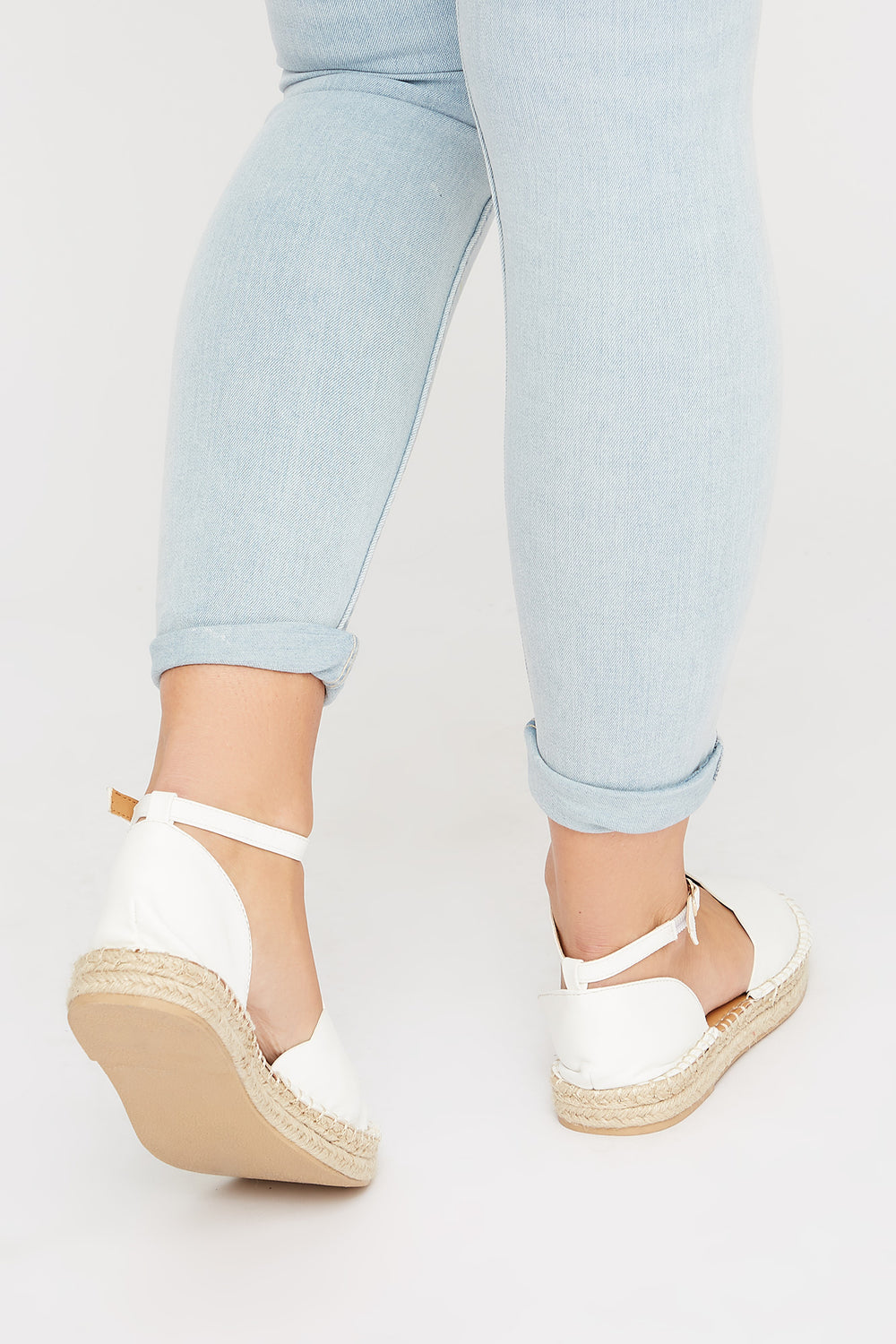 Scalloped Espadrille White