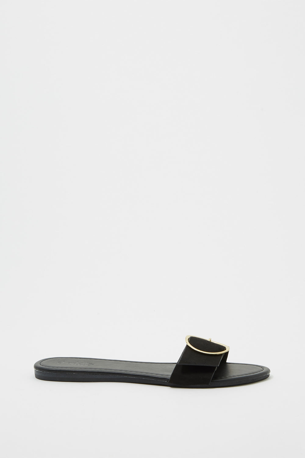 Buckle Slide Sandal Black