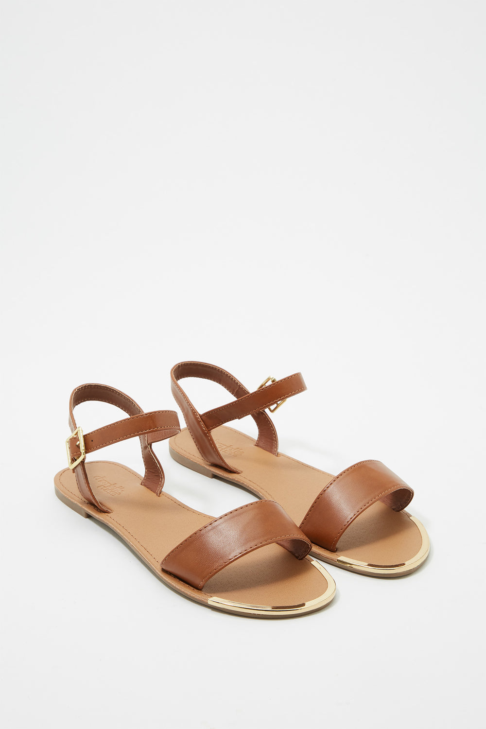 Minimal Strap Sandal Medium Brown