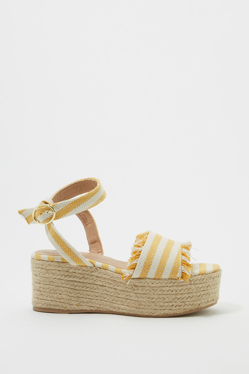 Canvas Platform Espadrille Wedge Sandal Yellow