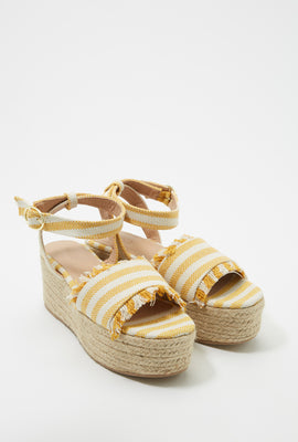 Canvas Platform Espadrille Wedge Sandal