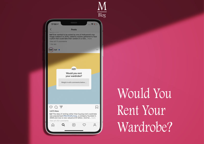 Would You Rent Your Wardrobe?