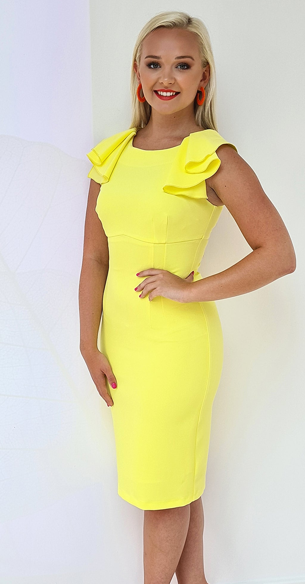 Paloma Dress DRC267 Yellow Crepe