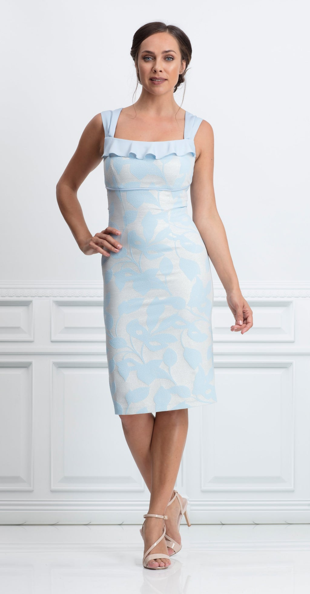 Andalusia  Dress in metallic jacquard