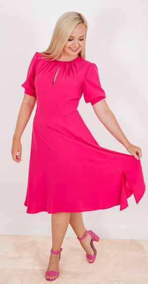 Cindy Dress DRC324 Bright Pink, Sample size 8