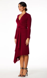 Eline Wool Blend Knitted Dress DRK289 Sample, Size 8 or Small/Medium