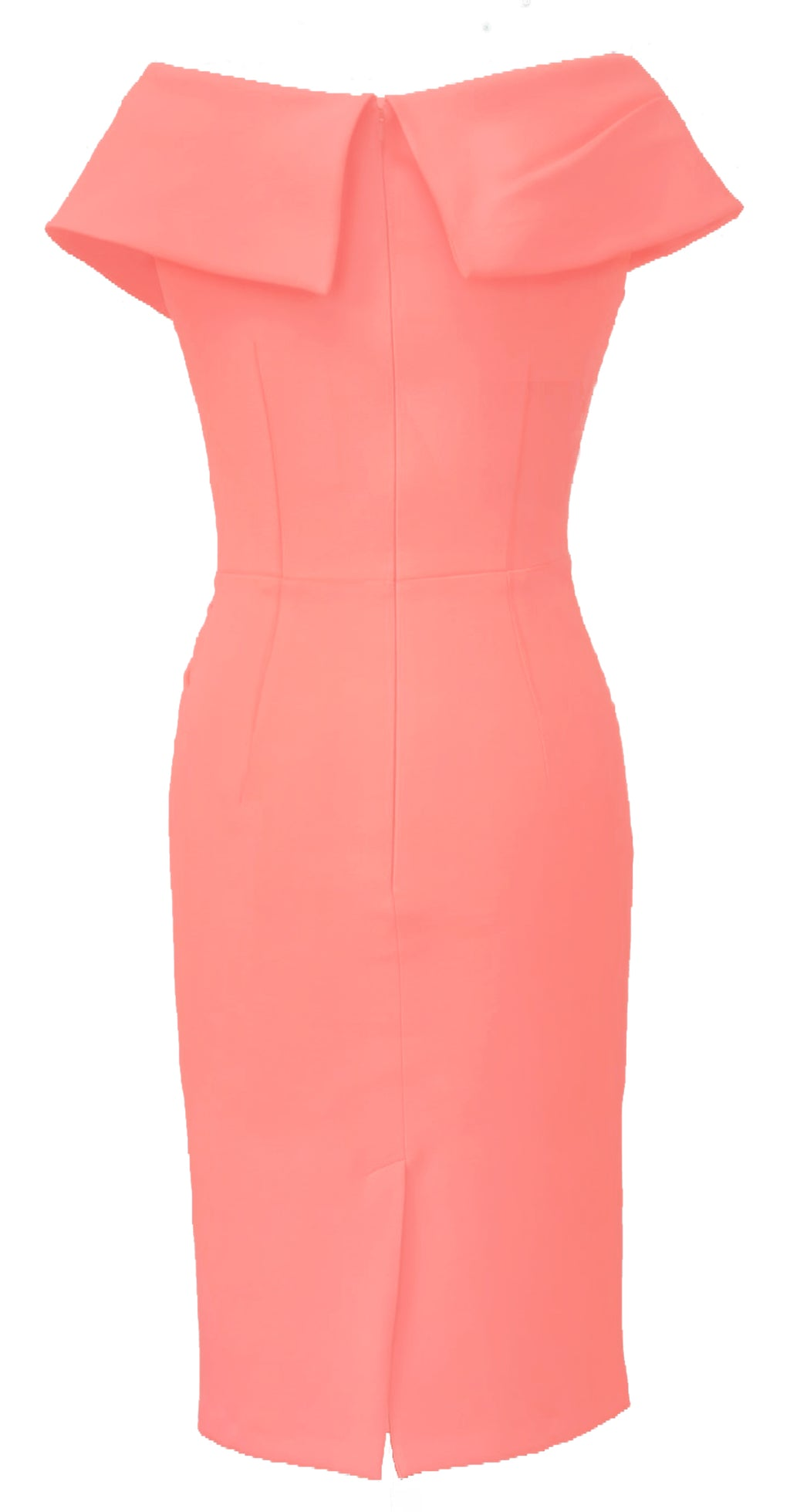 Olympia Dress DRC233 Coral Crepe
