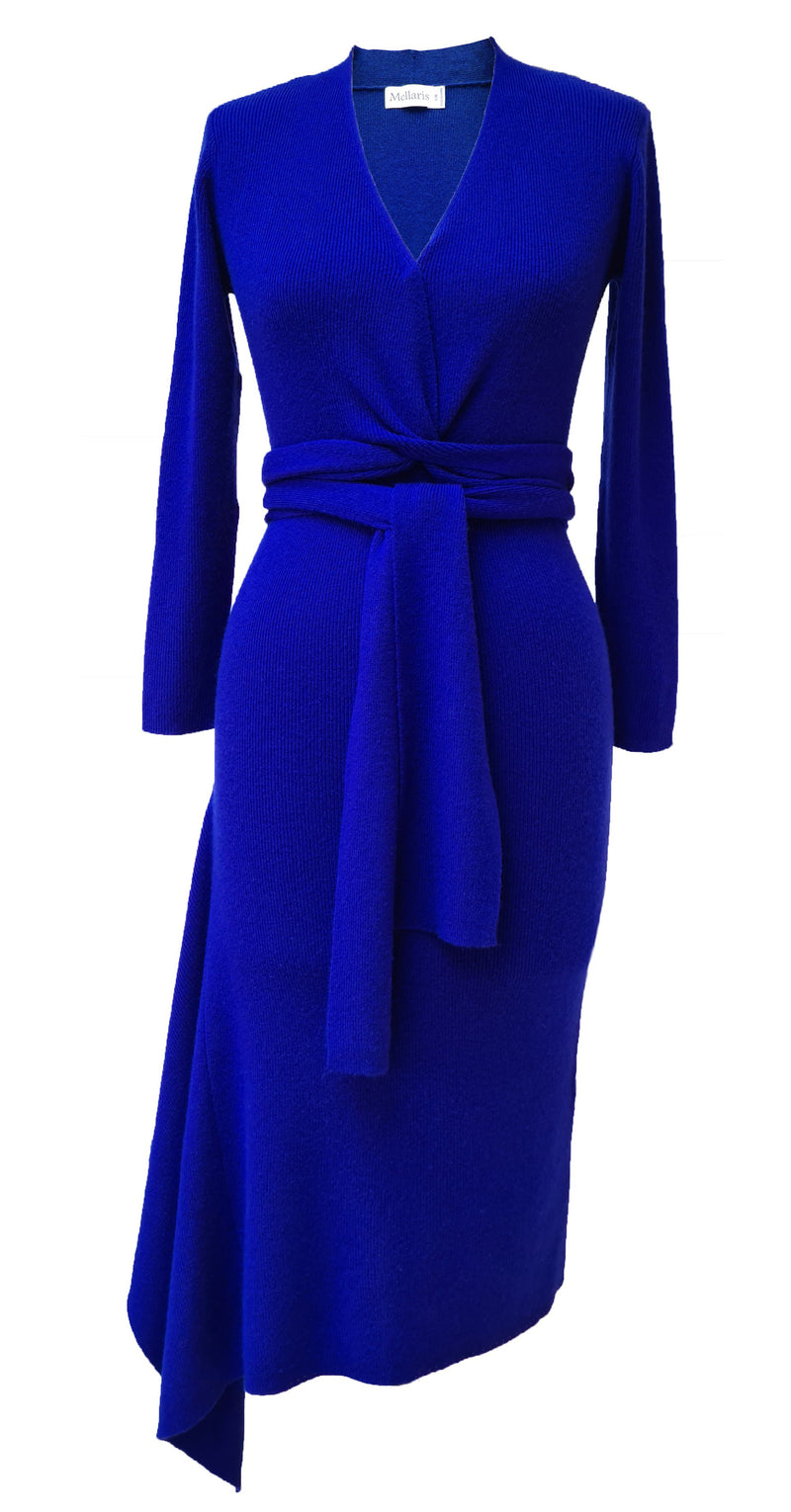 Eline Cashmere Blend Knitted Dress DRK289 Sapphire