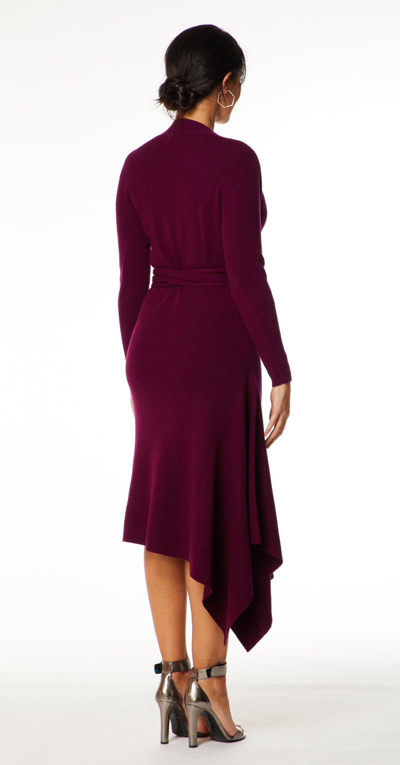 Eline Cashmere Blend Knitted Dress DRK289 Plum