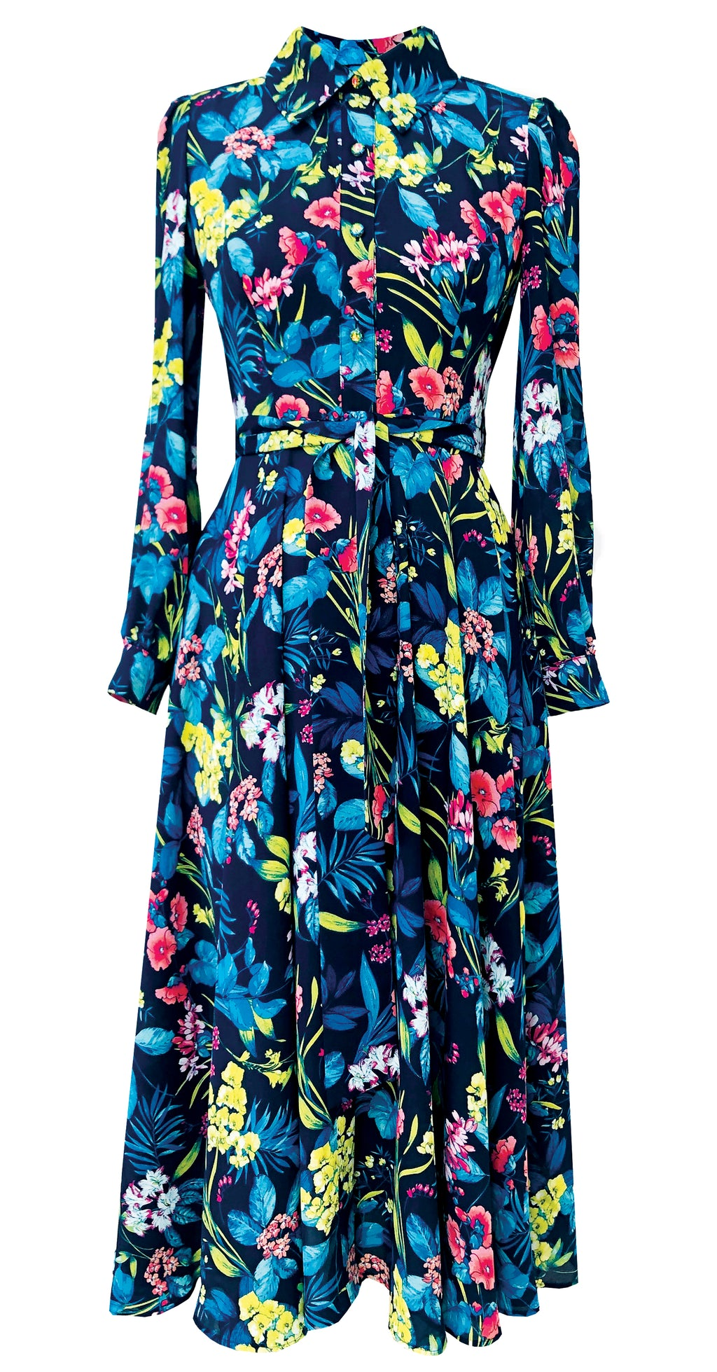 Fairytale Shirt Dress DRC345 Tropical Print