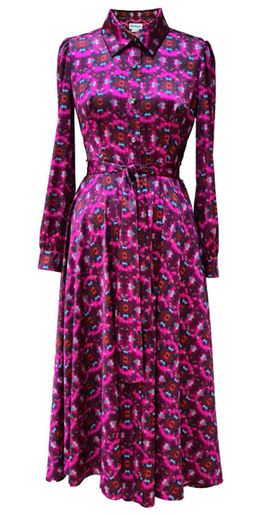 Fairytale Shirt Dress DRC345 Pink Crystal Print