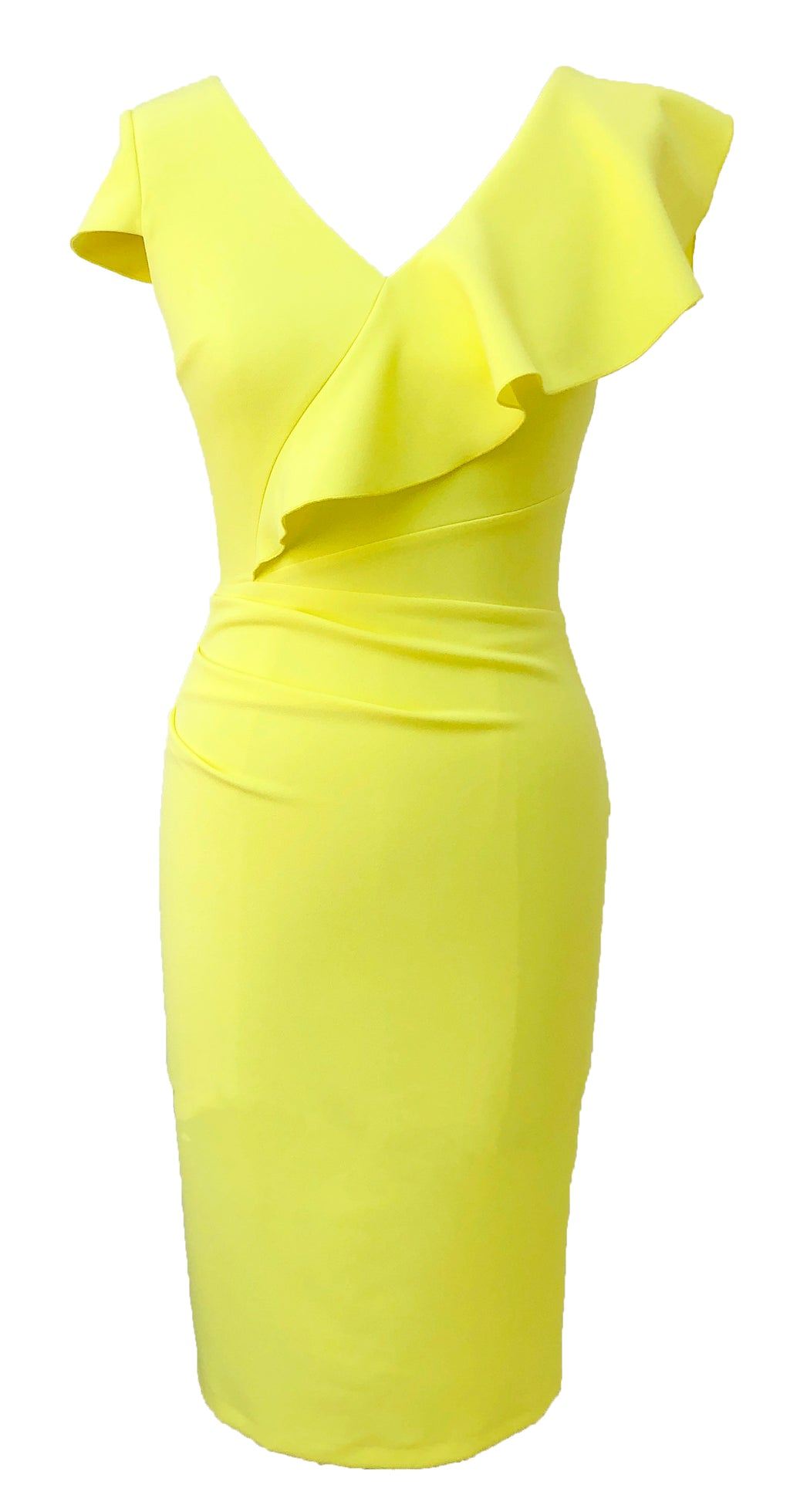 Arina Dress DRC354 Yellow Crepe