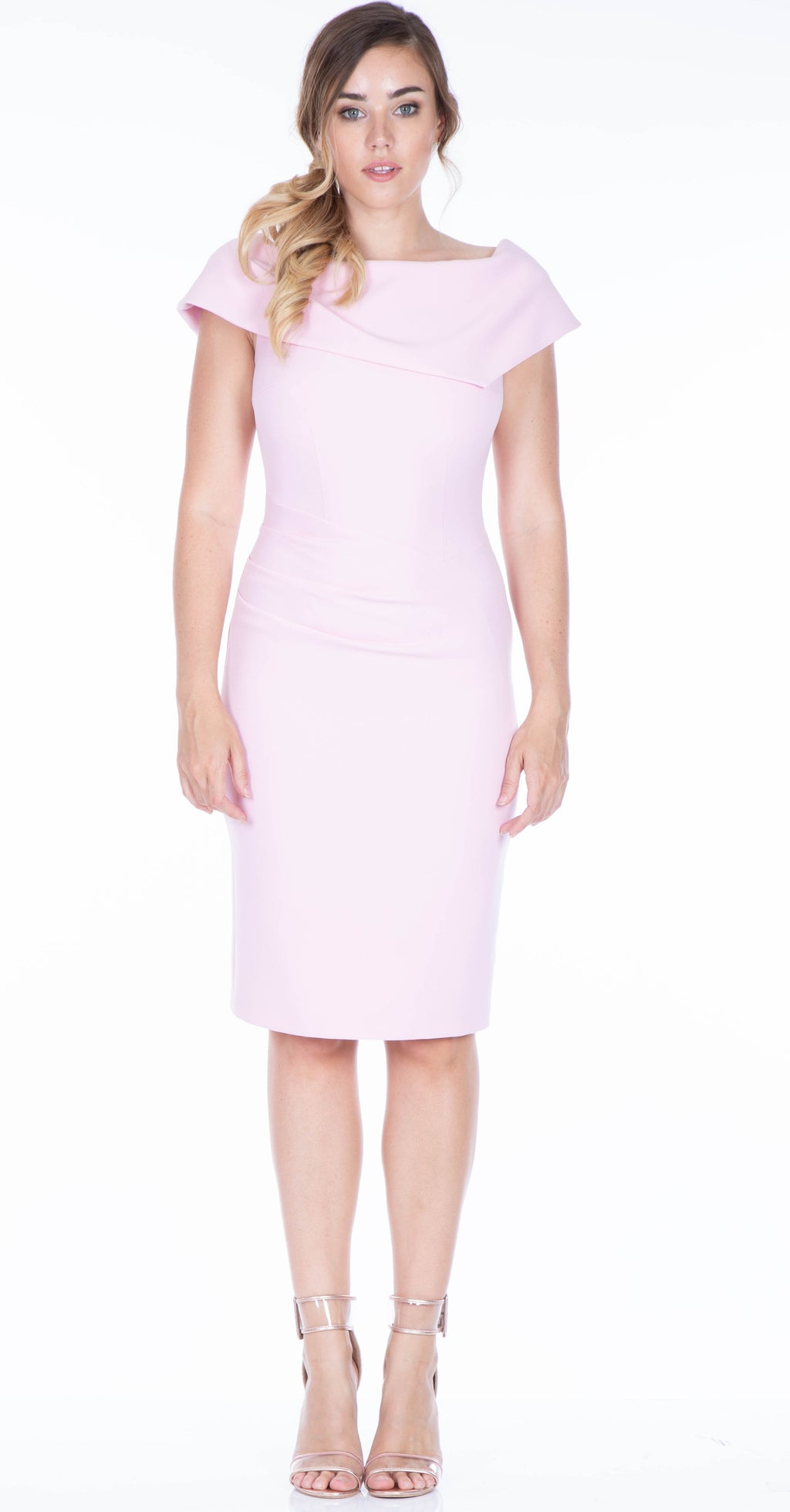 Olympia Dress DRC233 Pale Pink