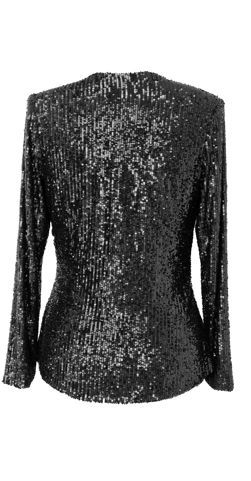 Stella Top TOP335 Black Rain Sequins