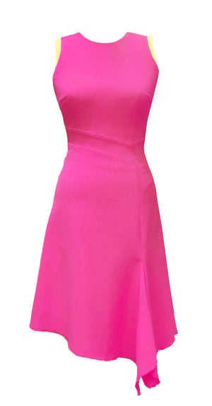 Adelle Dress DRC236 Pink/Yellow contrast
