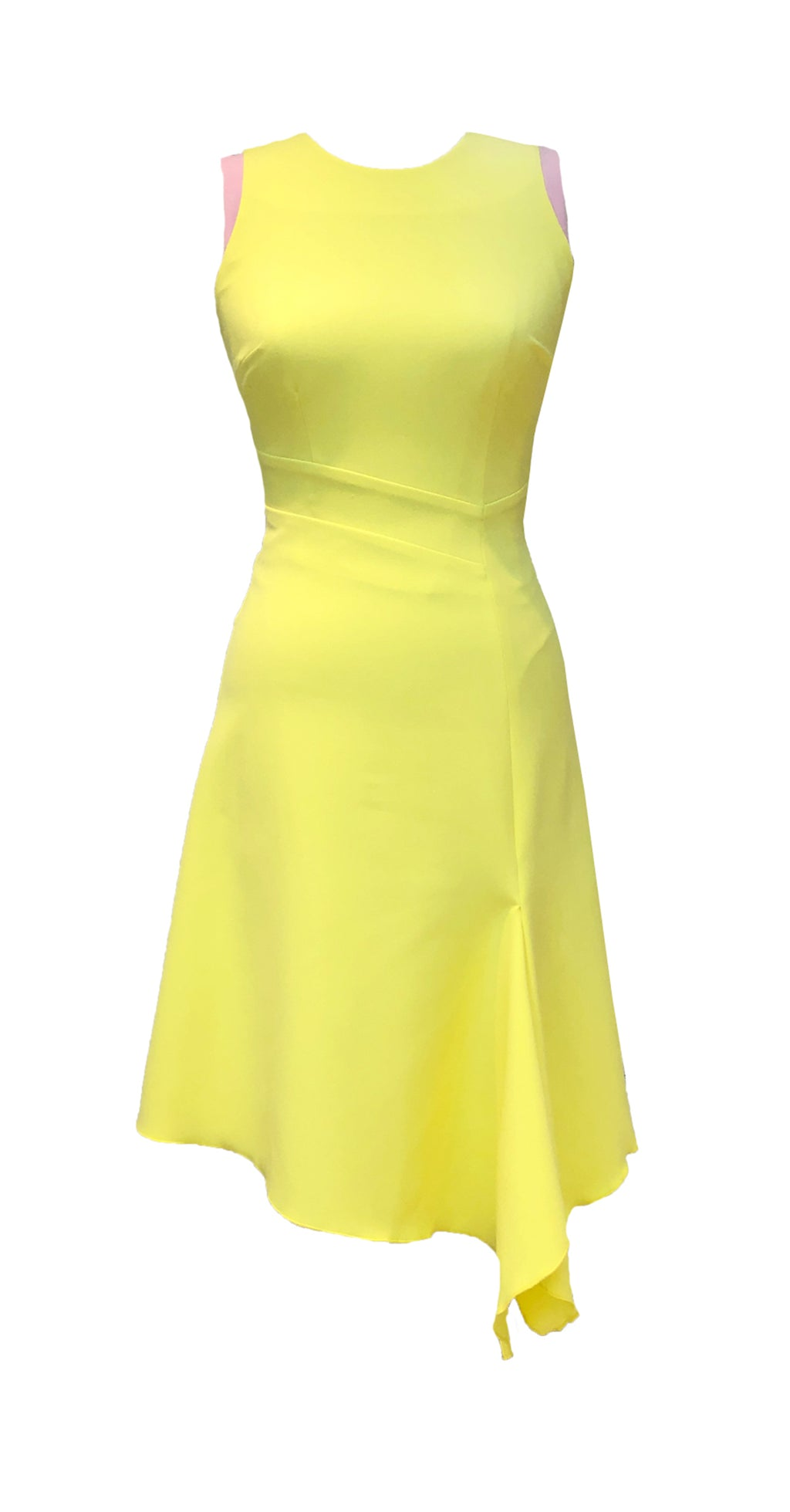 Adelle Dress DRC236 Yellow/Pink Contrast
