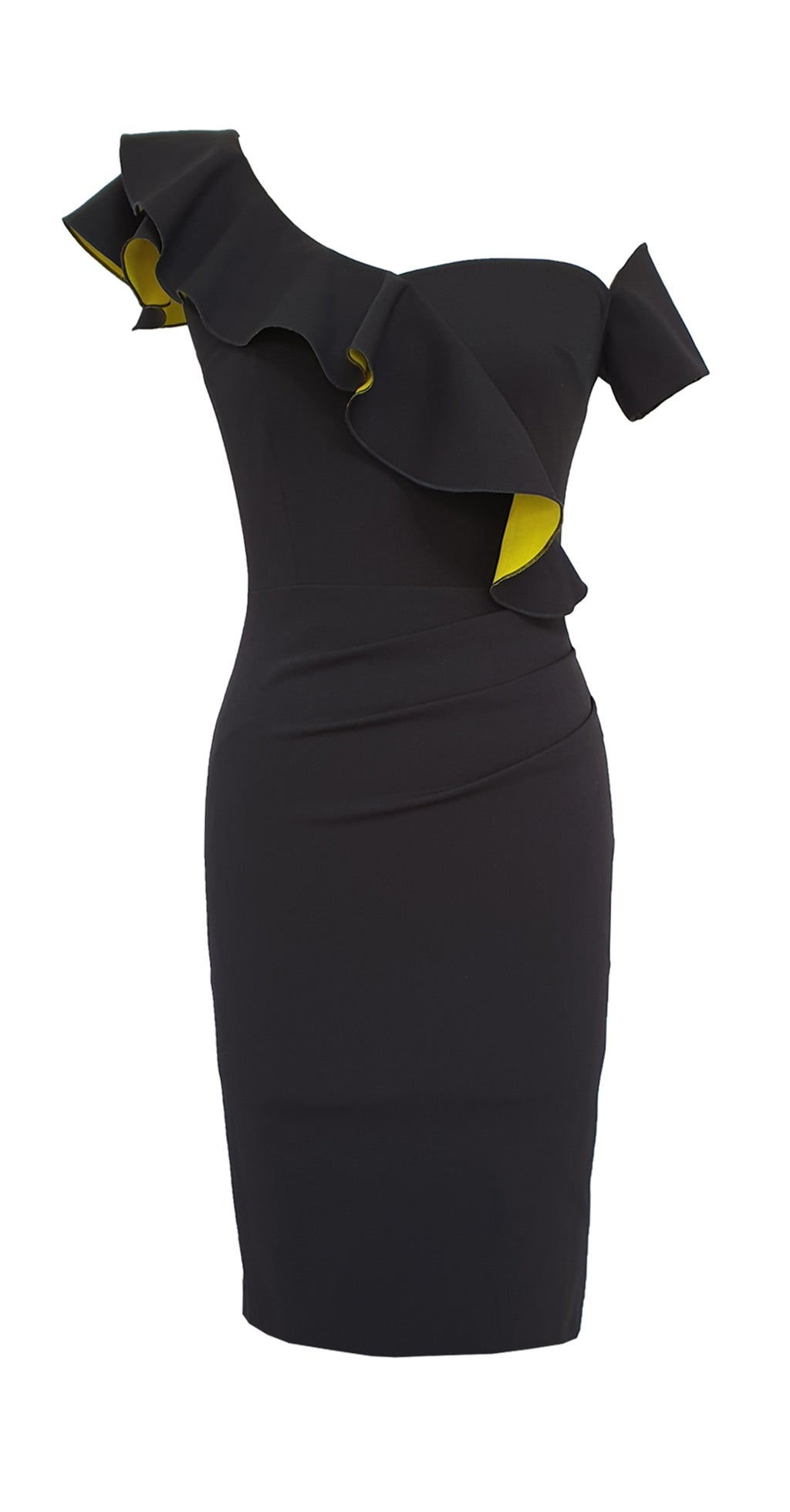 Calypso Dress DRC208 Black/Yellow Contrast