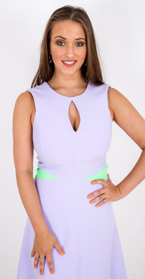 Claudette Dress DRC293 Heather/Apple Green