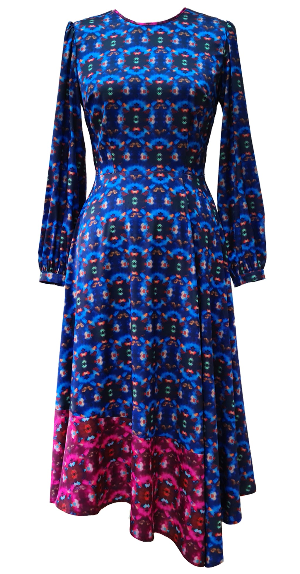 Dream Catcher Dress DRC326 Blue/Pink Crystal Print