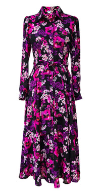 Fairytale Shirt Dress DRC345 Pink/Black Floral Print
