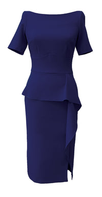 Jayne Dress DRC300 Navy Crepe