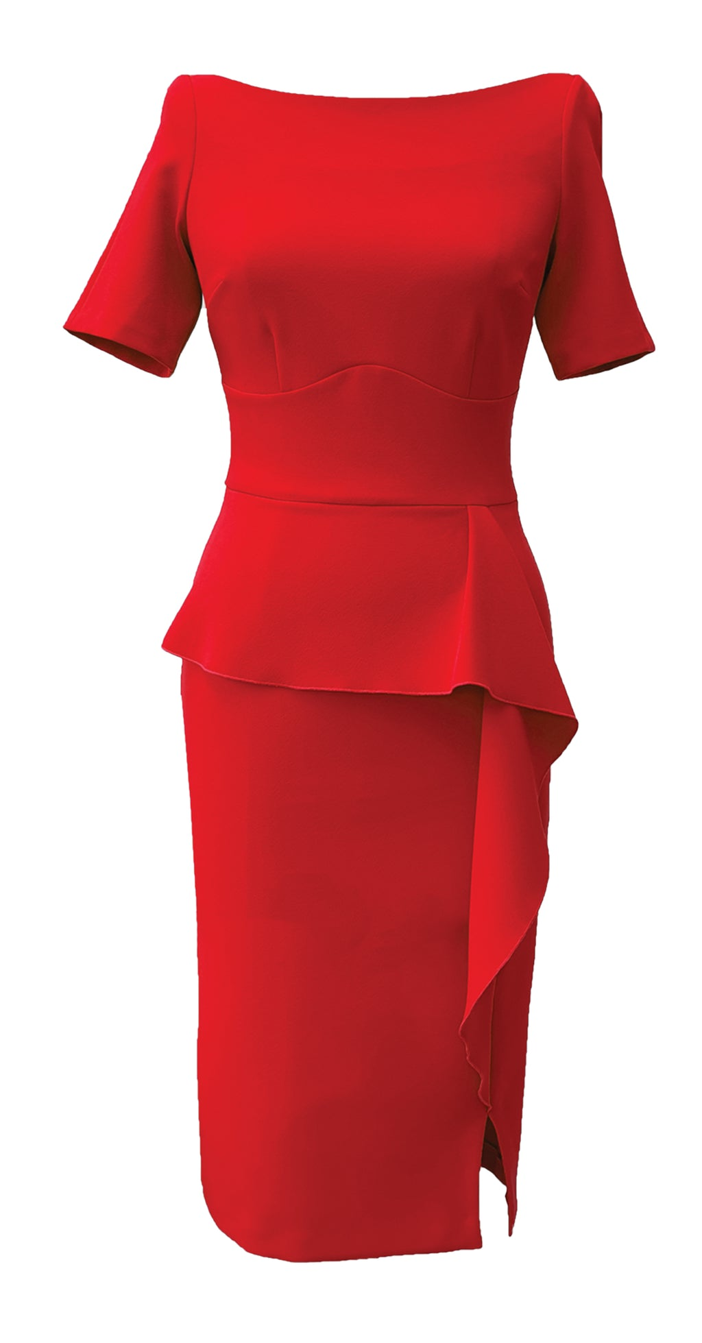 Jayne Dress DRC300 Red Crepe