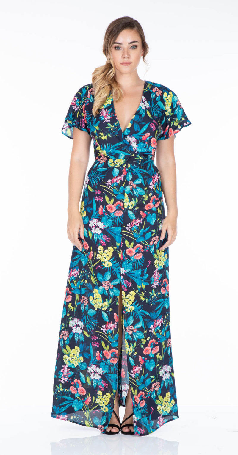 Meteora Beach Maxi Dress DRC246 Tropical Print