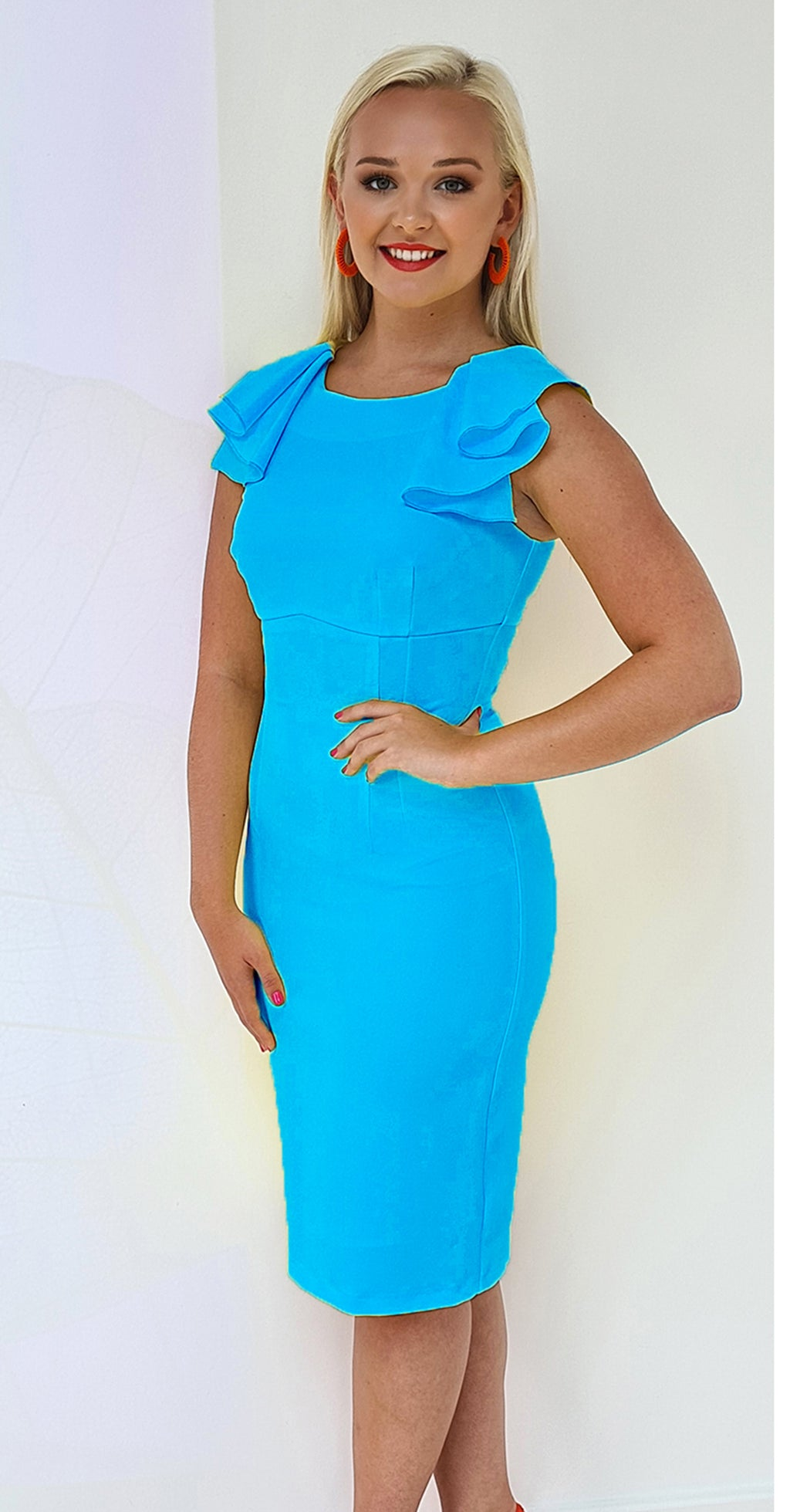 Paloma Dress DRC267 Lagoona Blue Crepe