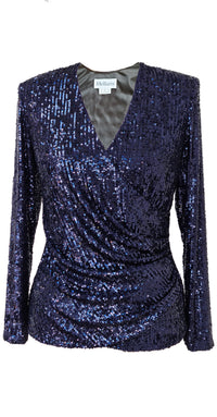 Stella Top TOP335 Midnight Blue Sequins