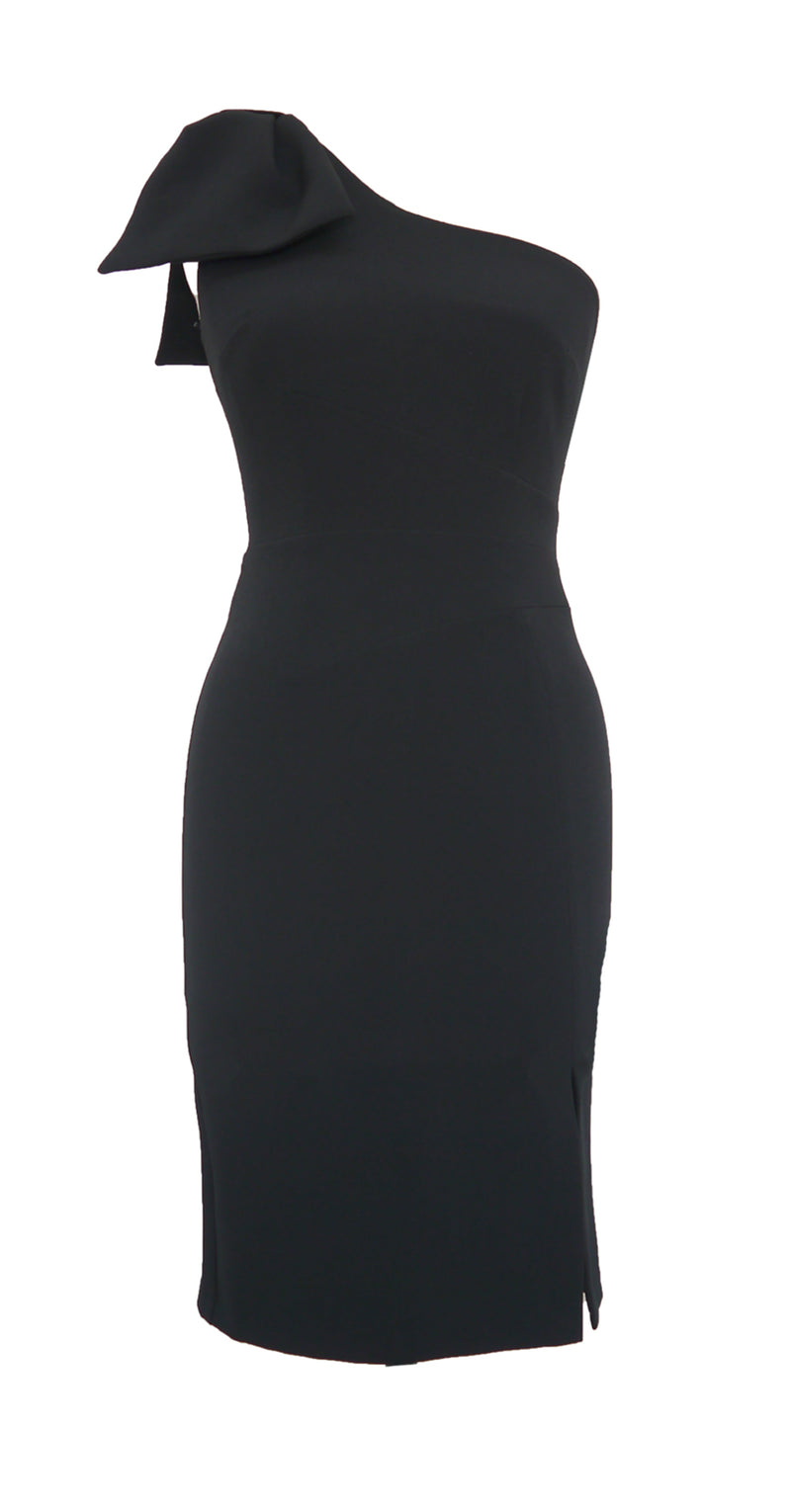 Tessa Dress DRC235 Black Crepe