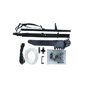 Complete C-bracket Rudder Kit (includes rudder, mount, v-block, sliding foot pegs, tubing & rope, cable & hardware)
