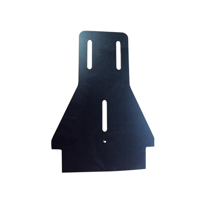 Backplate, touring; routed 5mm black polyethylene sheet (MPRT-036B)
