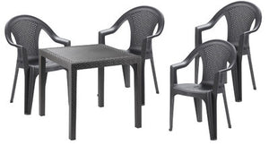 King Table and Ischia Chair 5 Piece Set - Nioclas O Conchubhair