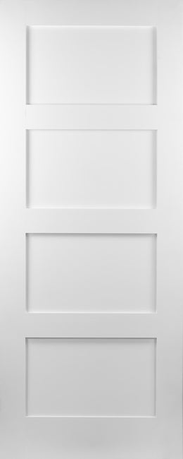 Seadec White Primed Augusta 4 Panel Door - Nioclas O Conchubhair