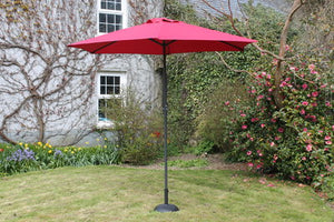 2.7 M Steel Parasol With Crank Red - Nioclas O Conchubhair