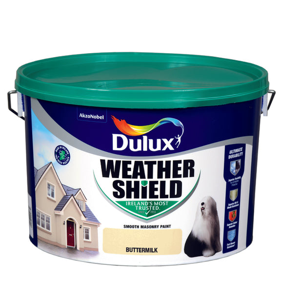 Dulux Weathershield Buttermilk 10L - Nioclas O Conchubhair