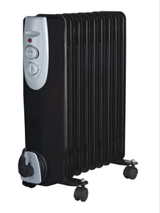 9 Fin Black Oil Filled Radiator 2000w - Nioclas O Conchubhair