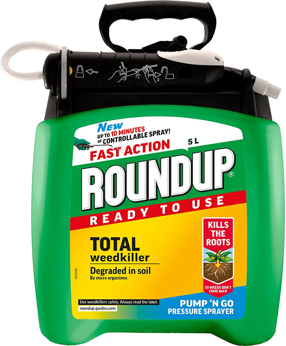 Roundup® Fast Action Ready to Use Weedkiller Pump 'n Go 5Ltr - Nioclas O Conchubhair