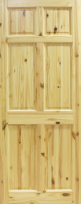 Seadec Red Pine Westport 6 Panel Door - Nioclas O Conchubhair