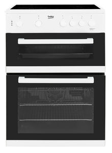 Beko 60cm Double Oven Electric Cooker White | KDC611W - Nioclas O Conchubhair